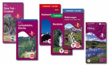 Nordeca Turkart- Serien 1:50 000  Hardangervidda Vest