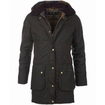Barbour Wms Bower Wax Jacket Olive 12