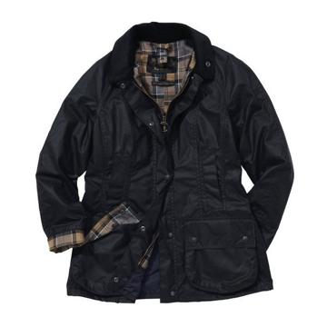 Barbour Wms Beadnell Wax Jacket Navy 14