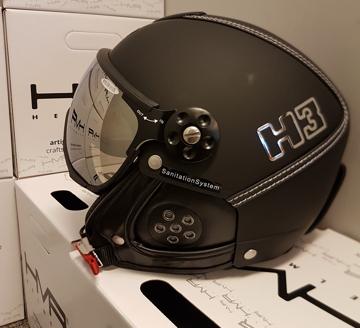 HMR Helmets H3 Black / Leather black Col. 0100 XXL