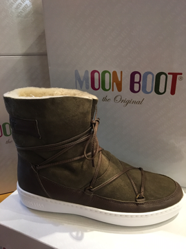 Moon Boot Pulse Low Shearling Militery Green 37