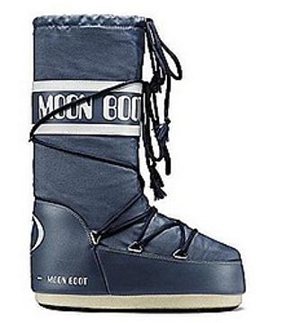 Moon Boot Mens Nylon Denim Blue