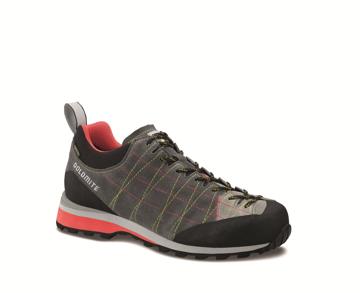 Dolomite Mens Diagonal Gtx Col. Asphalt Grey/Hibiscus Red 46.5