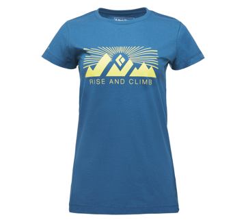 Black Diamond Wms Rise And Climb Tee Col. Night Sky M