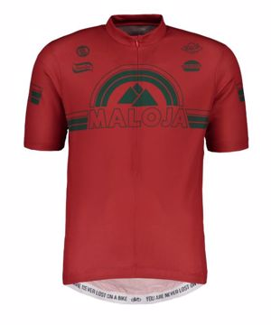 Maloja Mens PlajetM Allmountain 1/2 SS Bike Jersey Red Poppy