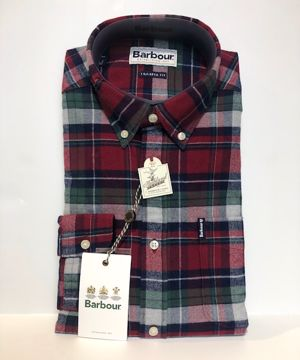 Barbour Mens Highland Check Tailored Red XXL