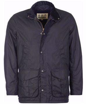 Barbour Mens Herford Wax Jacket Navy M