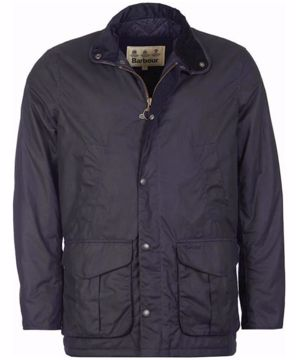 Barbour Mens Herford Wax Jacket Navy XL