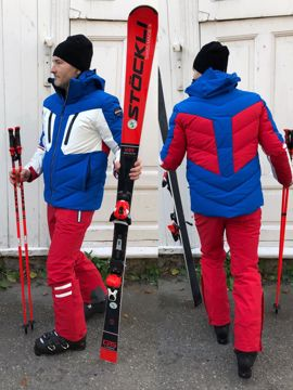 Vuarnet Mens Matterhorn Down Jacket Blue-White XL
