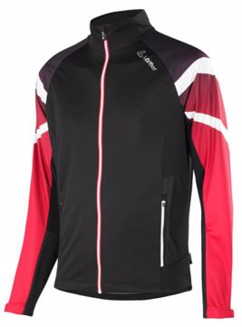 Löffler Mens Jacket Worldcup WS Light Black/Red 48
