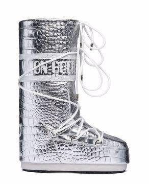 Moon Boot Classic 50° Crocodile Silver 35/38