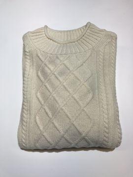 Barbour Wms Tyneside Knit Arran Cream 12
