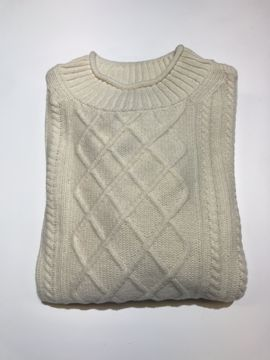 Barbour Wms Tyneside Knit Arran Cream 14
