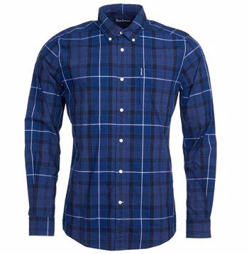Barbour Mens Sandwood Shirt Inky Blue XXL