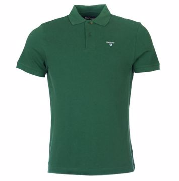 Barbour Mens Sports Polo Shirt Racing Green XXL