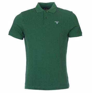 Barbour Mens Sports Polo Shirt Racing Green XXXL