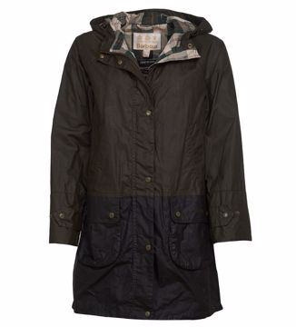 Barbour Wms Maddison Wax Jacket Archive Olive 14