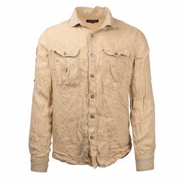 Amundsen Sports Mens Safari Linen Shirt G. Dyed Desert M