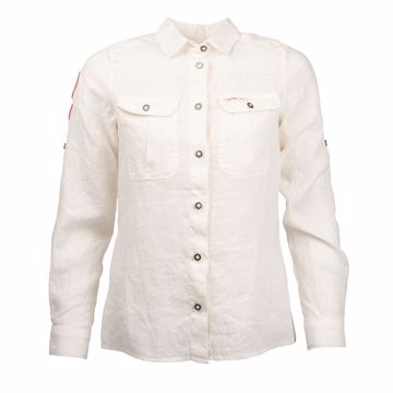 Amundsen Sports Wms G. Dyed Safari Linen Shirt Natural S
