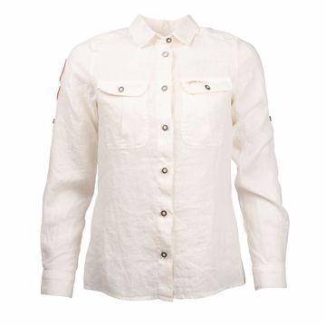 Amundsen Sports Wms G. Dyed Safari Linen Shirt Natural XS