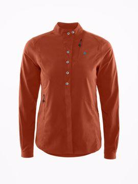 Klättermusen Wms Tyr Shirt Dark Rust