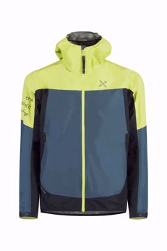 Picture of Montura Mens Pac Mind Jacket Lime Green/Ash Blue
