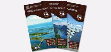 Nordeca Nasjonale Turistveier 1:50 000 Brun Valdresflye