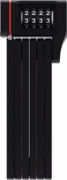 ABUS Lås uGrip Bordo Kode 80cm Black