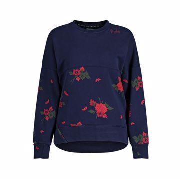 Maloja Wms BaergliM. Sweat Shirt Night Sky Flower S