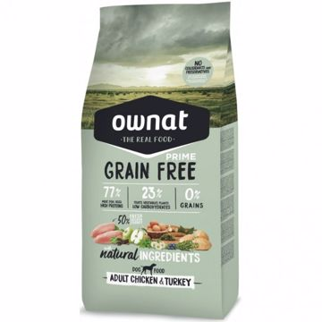 Ownat Grain Free Prime Adult Chicken & Turkey 14kg