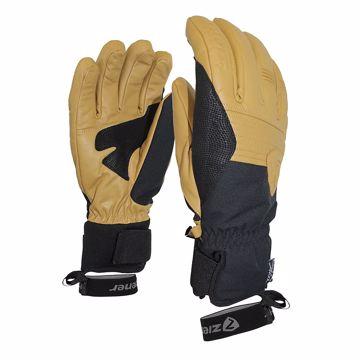 Ziener Gingo as Glove Ski Alpine Black - Tan 11