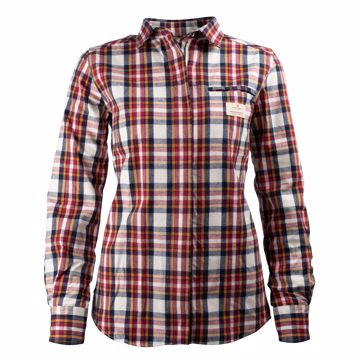 Amundsen Sports Wms Skauen Field Shirt Chequered White M