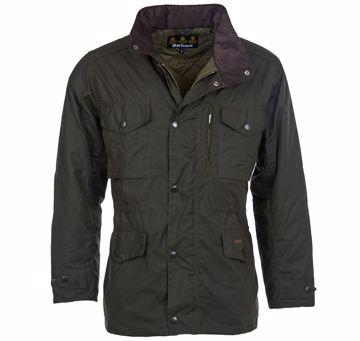 Barbour Mens Sapper Wax Jacket Olive XL
