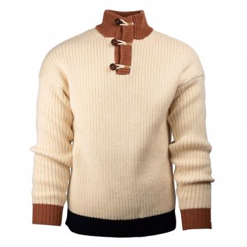 Amundsen Sports Mens Heroes Polo Neck Natural/Rustic Brown L