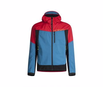Montura Mens Air Action Hybrid Jacket Red/Teal Blue M