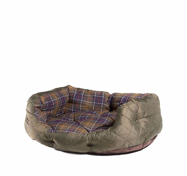 "Barbour Quilted Dog Bed 35"" Hundeseng Classic Tartan"