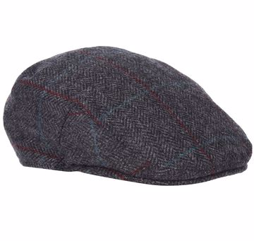 Barbour Crieff Cap Charcoal/Red/Blue 7 3/8