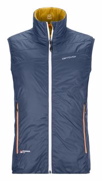 Ortovox Mens Swisswool Piz Cartas vest Night Blue L