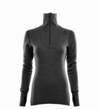 Aclima Wms DoubleWool Polo Shirt Zip Marengo/Jet Black S