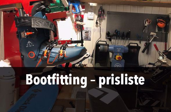 Bootfitting – prisliste