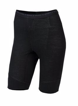Aclima Wms LightWool Shorts (long) Jet Black L