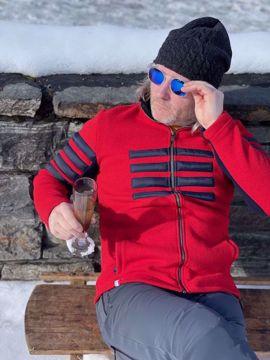 Picture of Skidress Mens Deux-Cent-Cinq Jacket Red