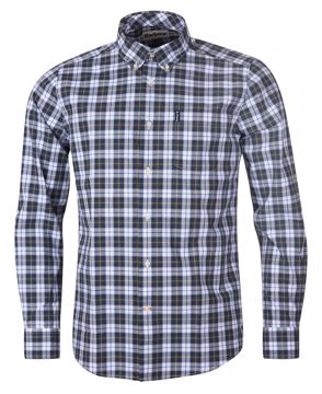 Barbour Mens Highland Check 28 Tailored Olive  XL