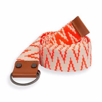 Amundsen Woven Belt In Bag Natural/Coral 110