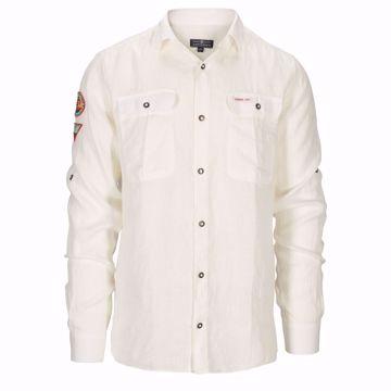 Picture of Amundsen Sports Mens G. Dyed Safari Linen Shirt Natural