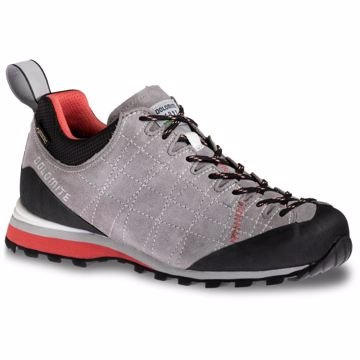Dolomite Wms Diagonal GTX Pewter Grey/Coral Red 40 2/3