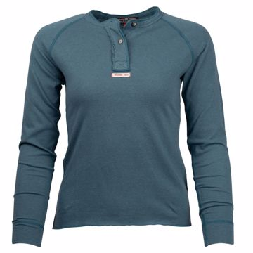 Amundsen Sports Wms Summer Wool Henley Faded Blue XS