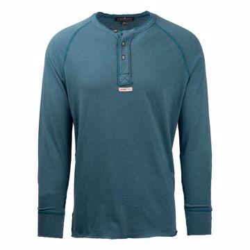 Amundsen Sport Mens Summer Wool Henley Faded Blue S