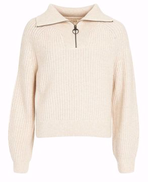 Picture of Barbour Wms Stanton Knit Ullgenser Oatmeal