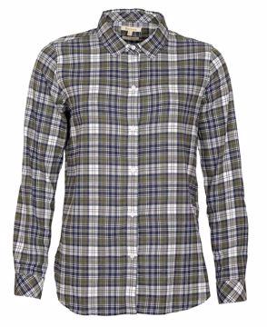 Barbour Wms Moors Shirt Sage Check 16